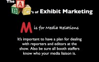The ABC's of Exhibit Marketing: M is for Media Relations
