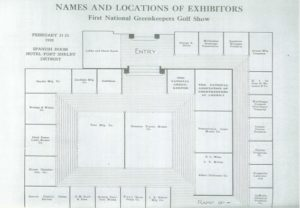 Image courtesy of GCSAA (floor plan from the first show in 1928)