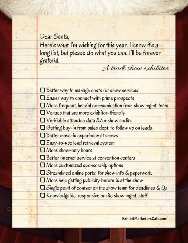 Exhibitor's wish list