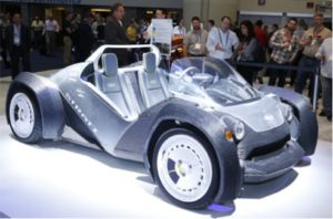 Photo courtesy of NPE (3D-printed car from NPE2015)