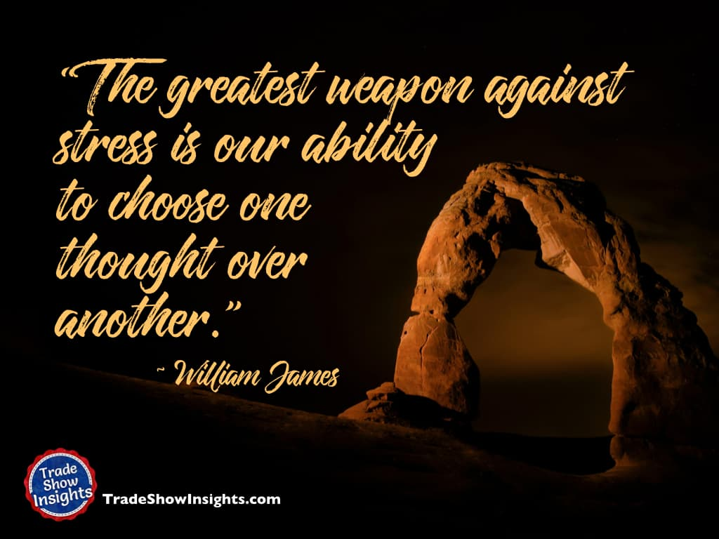 Choose thoughts - William James quote