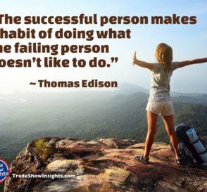 Success quote - Edison