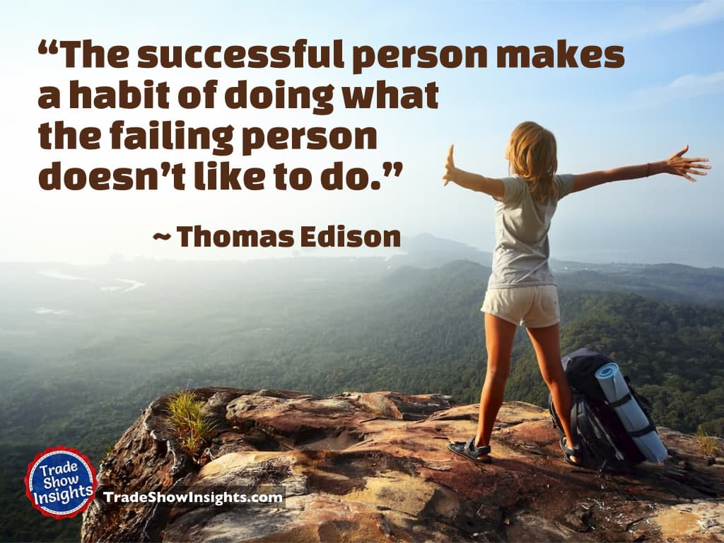 Success quote - Edison