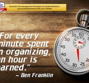 Ben Franklin organizing quote